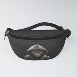 Cool Black Cat Hooded Pullover Fanny Pack