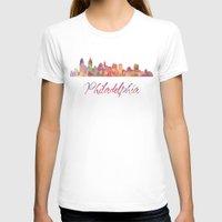 philadelphia T-shirts featuring Philadelphia Skyline by SpecialTees
