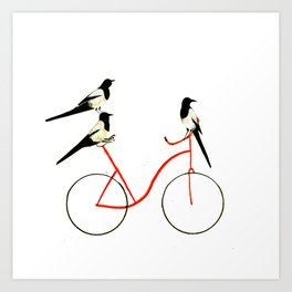 Reason THREE for using bike. Art Print