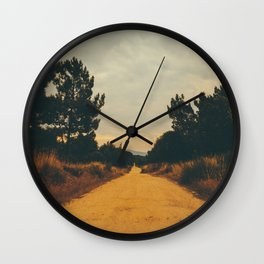 Vintage Faded Dusty Country Dirt Road Wall Clock