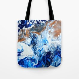 Copper and Blue Tote Bag