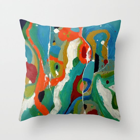 la folie des voisins Throw Pillow