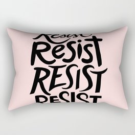 RESIST (pink) Rectangular Pillow