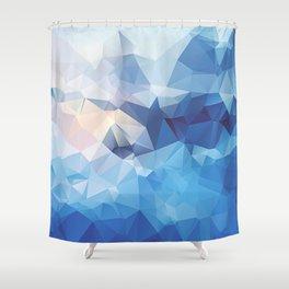 Iceberg Polygon Art Shower Curtain