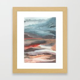 Serenity [2]: an acrylic piece in both warm and cool colors by Alyssa Hamilton Art Framed Art Print