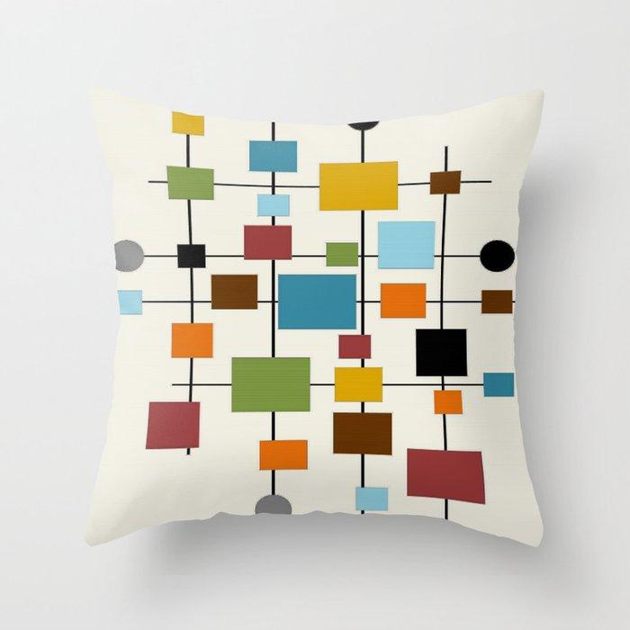 Mid-Century Modern Art 1.3 Throw Pillow