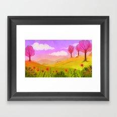Spring Breeze Framed Art Print