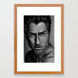 Masood Portrait Framed Art Print