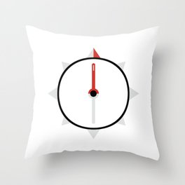 My Compass Points to Adventure Throw Pillow