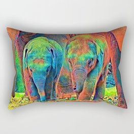 AnimalColor_Elephant_001_by_JAMColors Rectangular Pillow