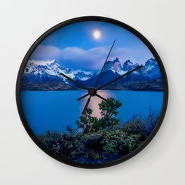 Peaceful Lakeside Photo Wall Clock