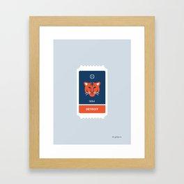 Detroit Baseball Ticket (30 of 30) Framed Art Print