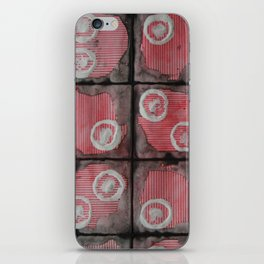 Black Grid Red Stripes iPhone Skin