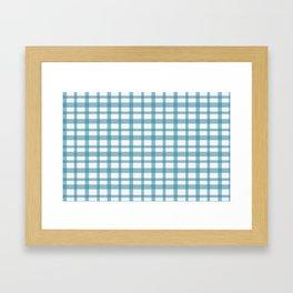Blue checkered Framed Art Print