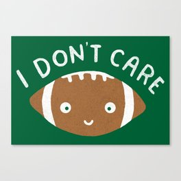 Football Thoughts Canvas Print