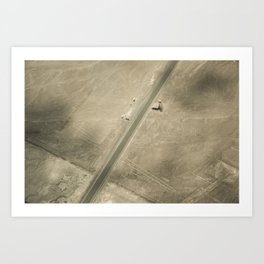 Nazca Lines - The Trees, The Lizard and The Hands. (Peru) Art Print