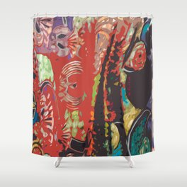 African Designs Shower Curtain