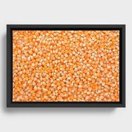 Popcorn maize Framed Canvas