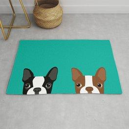 Boston Terriers Rug
