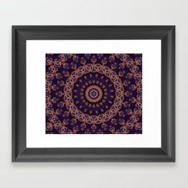 Peacock Jewel Framed Art Print