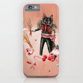 Krampus cat character iPhone Case