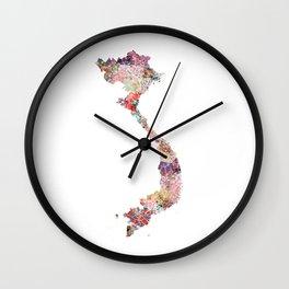 Vietnam map Wall Clock