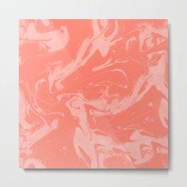 Adrift - Abstract Suminagashi Marble Series - 08 Metal Print