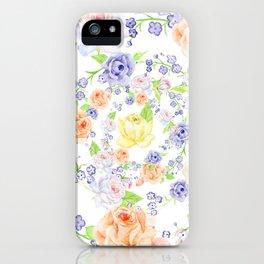Bouquet of Orange AND Blue rose - wreath iPhone Case