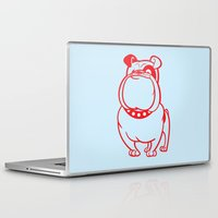 bulldog Laptop & iPad Skins featuring Bulldog by drawgood