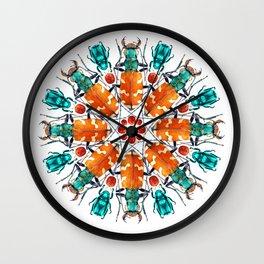 Bug Mandala Wall Clock