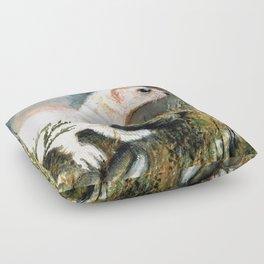 Winter stoat (c) 2017 Floor Pillow
