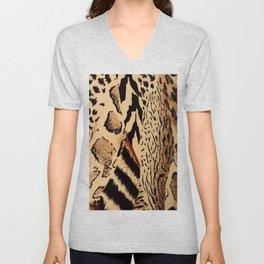 Leopard,tiger print Unisex V-Neck