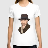indiana jones T-shirts featuring Indiana Jones by Rachel Barrett