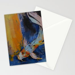 Sanshoku Koi Stationery Cards