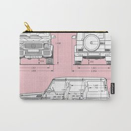 GWAGON BLUEPRINT (pink) Carry-All Pouch