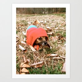 Tough Puppy Art Print