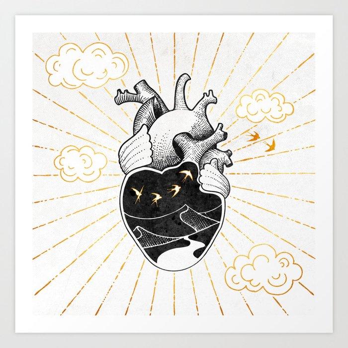 Desert Heart Inktober :: More Magick Art Print