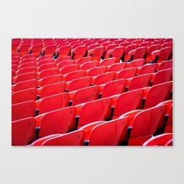 Red Stadium Seats Canvas Print