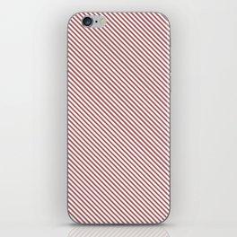 Dusty Cedar Stripe iPhone Skin