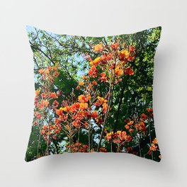 Flowers In The Trees Scenic Art Photo Throw Pillow