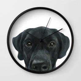 Labrador New, Acrylic painting by miart Wall Clock