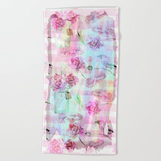 Summer pattern  Beach Towel