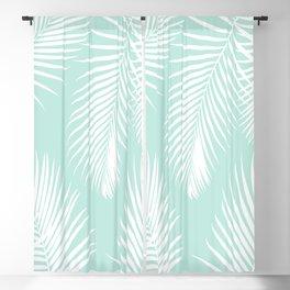 Mint Tropical Pattern Blackout Curtain