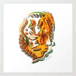 Multiple Personalities Art Print