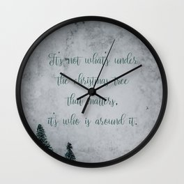 What's under the christmas tree - Christmas Collection Wall Clock