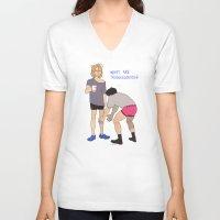 sin city V-neck T-shirts featuring Sin by Plebnut