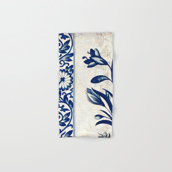 Blue Oriental Vintage Tile 03 Hand & Bath Towel
