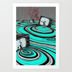 Lake of Static Art Print