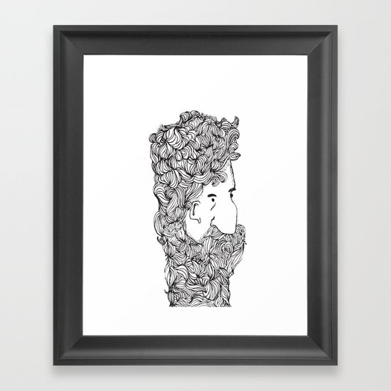 Bearded Man Framed Art Print