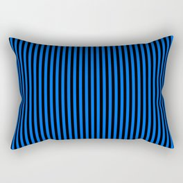 Striped black and blue background Rectangular Pillow